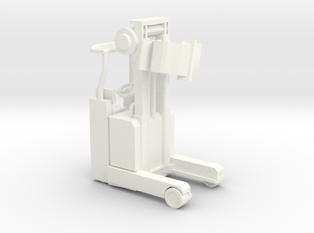 Docking Bay Forklift, 1:43 in White Strong & Flexible Polished