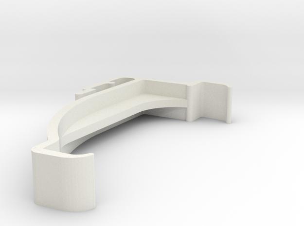 Blind Valance Clip 00176 in White Natural Versatile Plastic