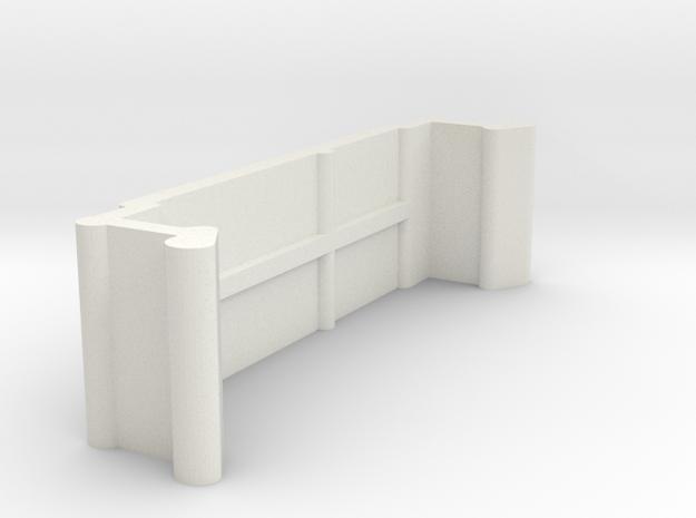 Blind Valance Clip 10C in White Natural Versatile Plastic