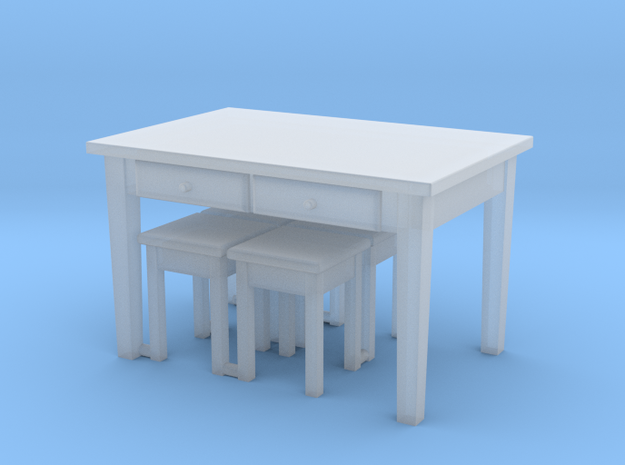 TT Kitchen Table with 4 Stools- 1:120