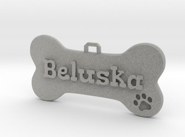 Dog Tag (customizable) in Metallic Plastic