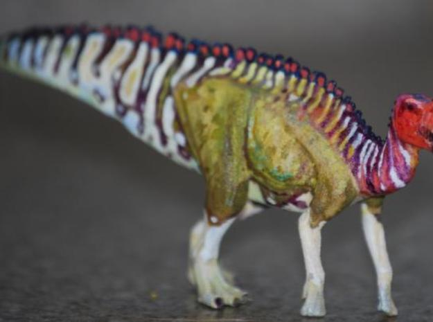 Gryposaurus Dinosaur Small SOLID 3d printed My Gryposaurus that I painted. If you would like to know about the painted figures and what I have available visit my blog at http://www.art-by-angie.blogspot.com/