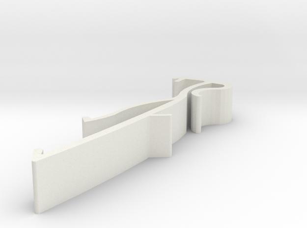 Blind Valance Clip 13A in White Natural Versatile Plastic
