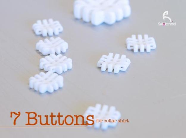 #-buttons for collar shirt - 7pcs. 3d printed Real ones...