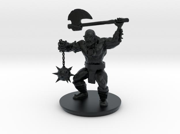 Elite Orc Warrior in Black Hi-Def Acrylate