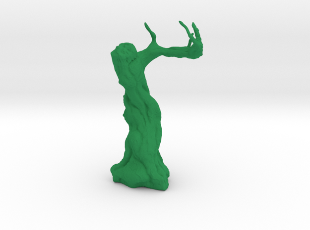 Twisted Tree - Tabletop Prop in Green Strong & Flexible Polished: 28mm