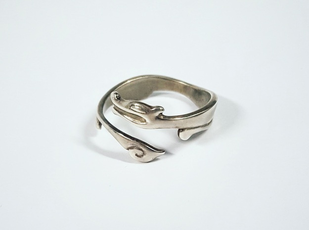 Stark Ring in Polished Silver: 10 / 61.5