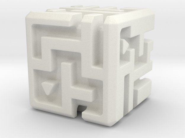 Sculpture: MAZE in White Natural Versatile Plastic