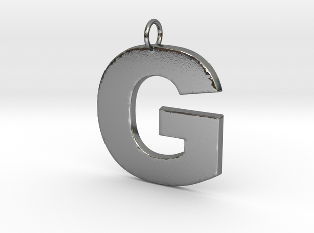 G Pendant in Polished Silver