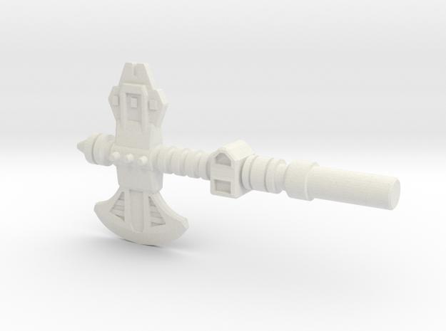 Broadside's Axe, 5mm in White Strong & Flexible: Medium