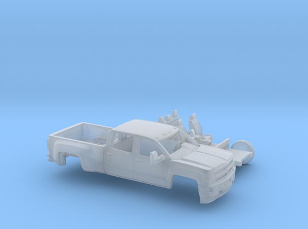 1/64 2015 Chevrolet Silverado Dually Kit in Smooth Fine Detail Plastic