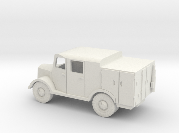 1/144 Mercedes Radio truck in White Natural Versatile Plastic