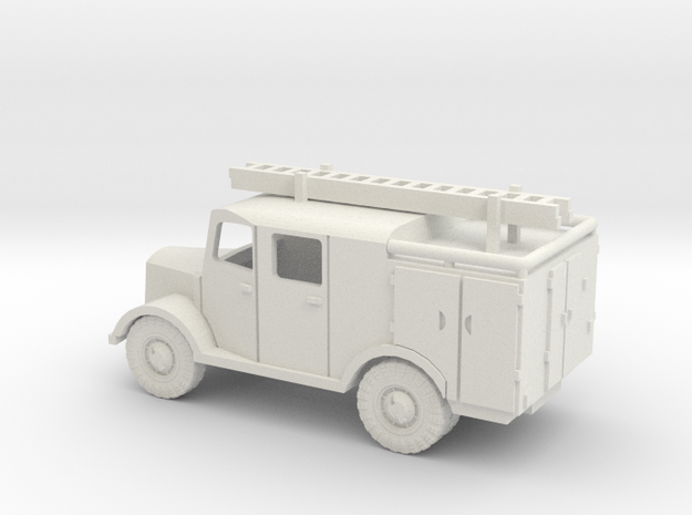 1/144 Mercedes LF8  Fire engine in White Natural Versatile Plastic