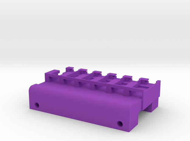 Neoden 6-Gang, 12mm feeder block in Purple Strong & Flexible Polished