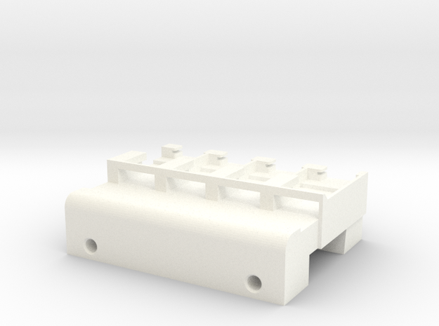 Neoden 4-Gang, 16mm feeder block in White Strong & Flexible Polished