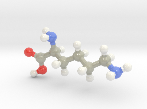 Lysine (K) in Glossy Full Color Sandstone