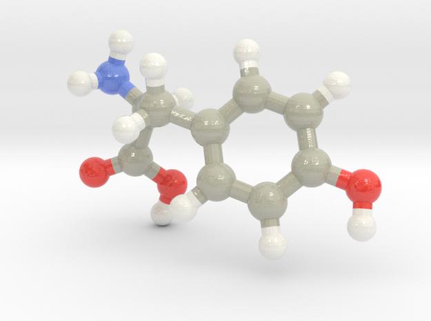 Tyrosine (Y) in Glossy Full Color Sandstone