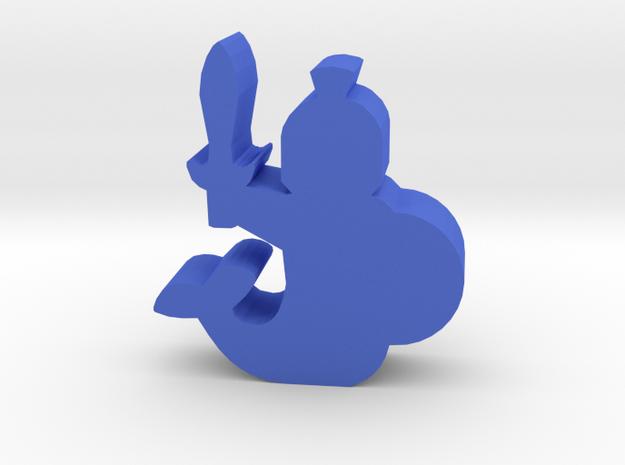 Game Piece, Merfolk Soldier in Blue Processed Versatile Plastic