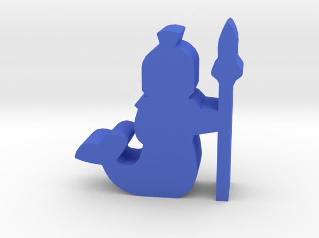 Game Piece, Merfolk Guard in Blue Processed Versatile Plastic