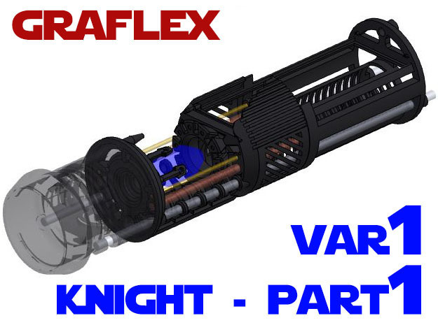 Graflex Knight Chassis - Variant 1 - Part 1 in White Strong & Flexible