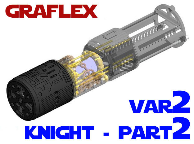 Graflex Knight Chassis - Variant 2 - Part 2 in White Strong & Flexible