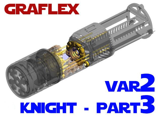 Graflex Knight Chassis - Variant 2 - Part 3 in White Strong & Flexible