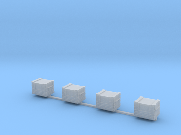 Docking Bay - four crates, 1:72 in Smooth Fine Detail Plastic