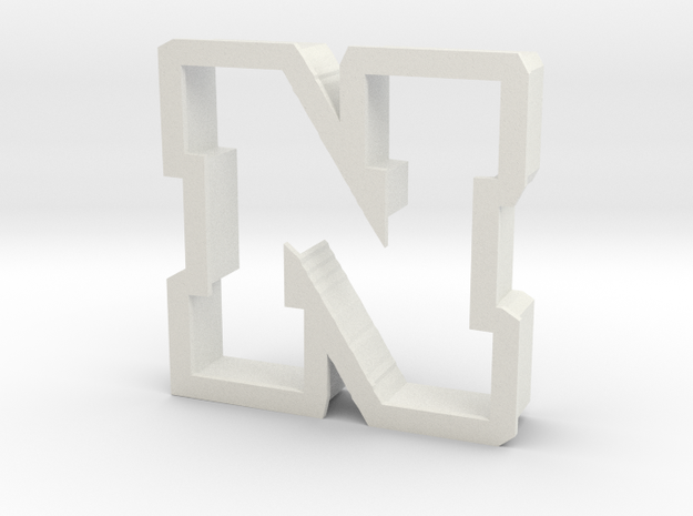 Nebraska cookie cutter in White Natural Versatile Plastic