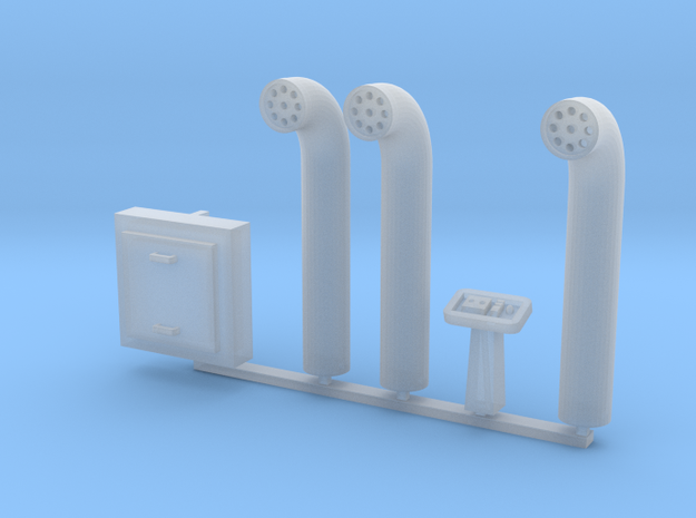 Docking Bay Pipes, 1:72 in Smooth Fine Detail Plastic