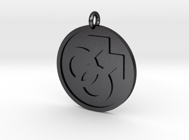 Double Male Pendant in Polished and Bronzed Black Steel