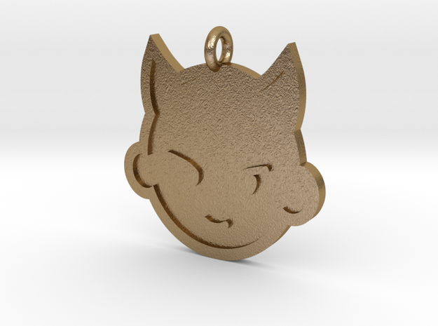Imp Pendant in Polished Gold Steel