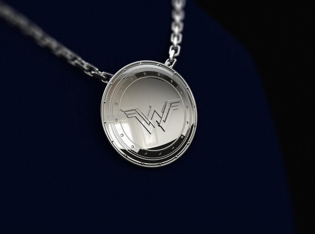 Wonder Woman's Shield in Natural Brass