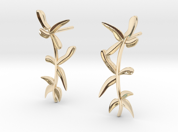 """""""At The French Window"""" Laurel Earrings - SMK in 14K Gold"""