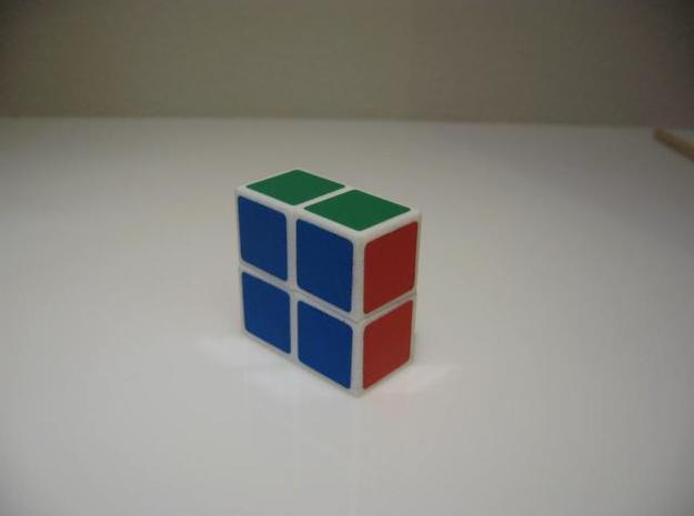 Minimis 2x2x1 (hollow) 3d printed Assembled with stickers added.