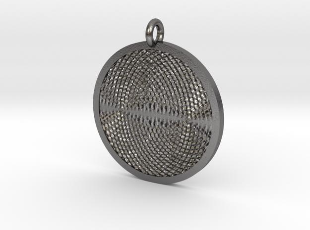 Ripples Pendant in Polished Nickel Steel