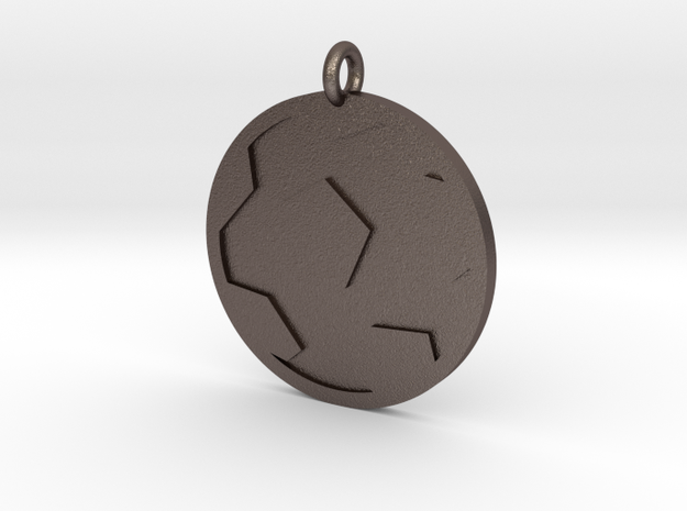 Soccer Ball Pendant in Polished Bronzed Silver Steel