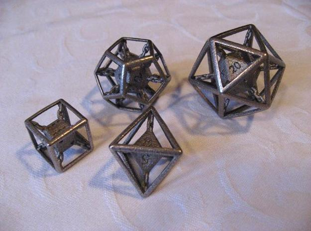 Chained die 8-sided 3d printed Set