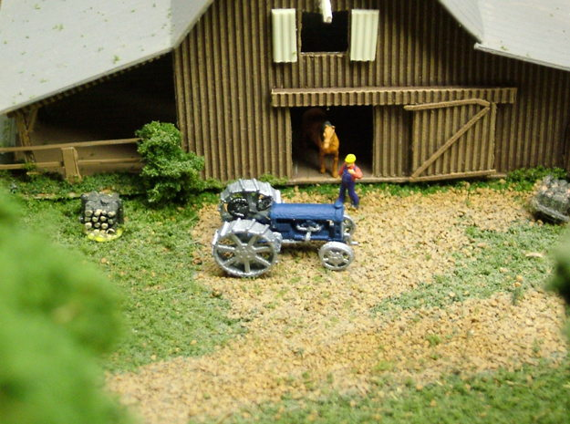 Tractor Fordson 3d printed Photo and painted by Walter Smith