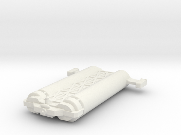 Omni Scale General Large Freighter (with Skids) WE in White Natural Versatile Plastic