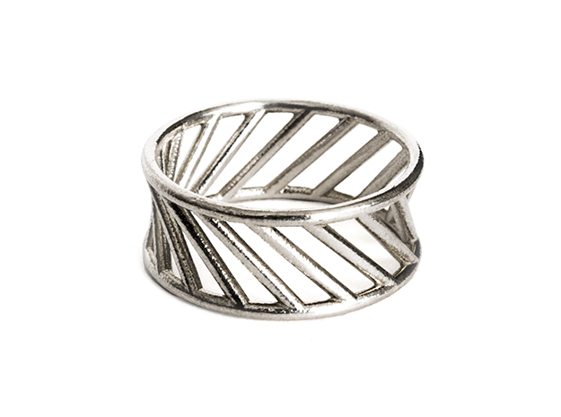 Hyperboloid Ring in Raw Silver: 10 / 61.5