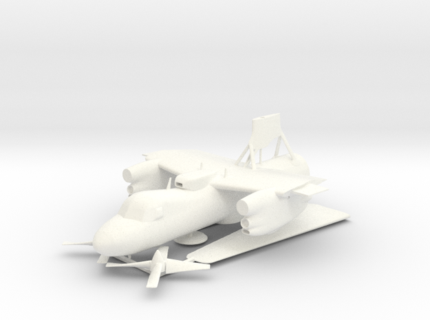 E-2C Hawkeye V13 3D Print Set 1 in White Strong & Flexible Polished