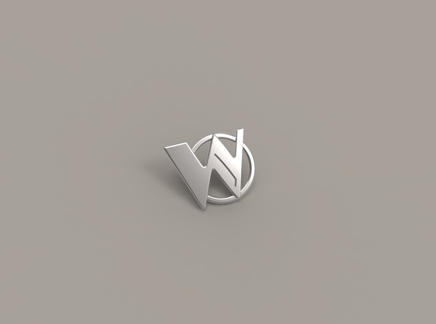 Wasabassco Logo Pin in Polished Silver