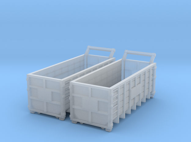Steel Waster Container 01. N  Scale (1:160) in Frosted Ultra Detail
