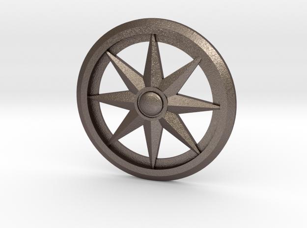 Sundial pendant in Stainless Steel