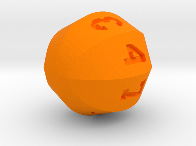 Basketball D8 in Orange Processed Versatile Plastic