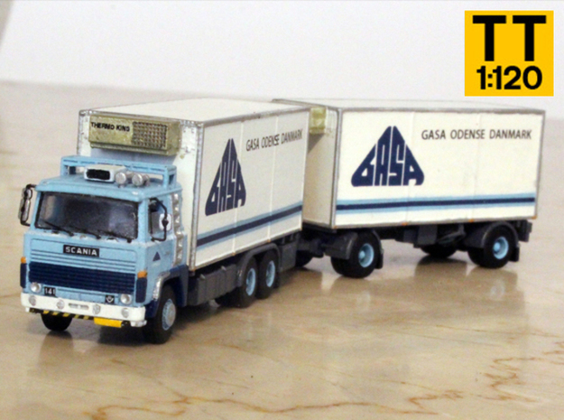 Scania 141 refrigerated lorry 1:120 scale in Smoothest Fine Detail Plastic