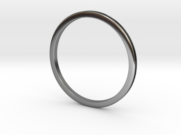 Engagement Ring Inlay 15.75mm in Polished Silver