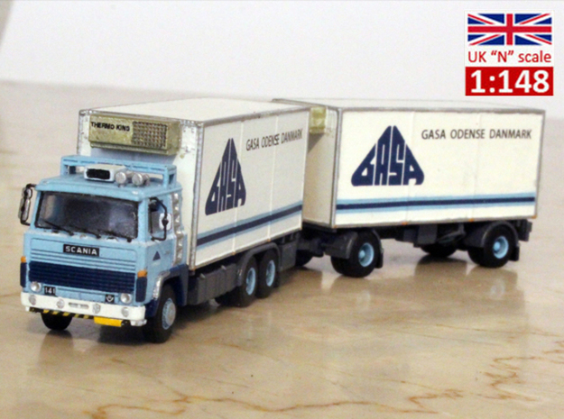 Scania 141 refrigerated lorry 1:148 scale in Frosted Extreme Detail