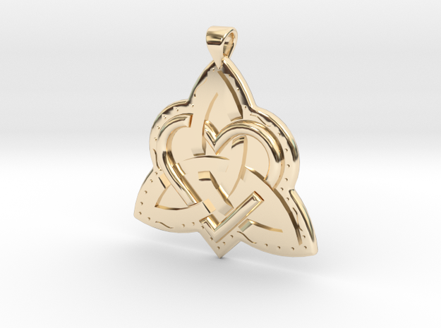Celtic Knot 2 Pendant in 14k Gold Plated