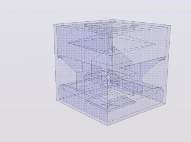 The Complex 3d printed An Iso of how the cube should look in transparent detail.